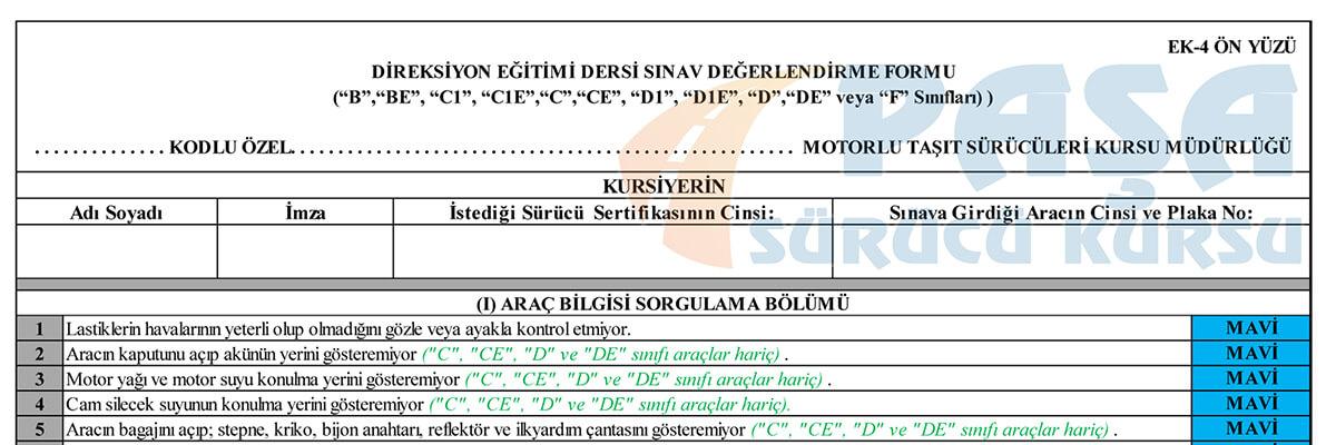 أبرز الأخطاء المرسبة في الفحص العملي لشهادة القيادة في تركيا